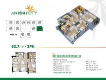 Cho thuê căn 3 phòng  ngủ, ban công Đông Nam, chung cư An Bình City