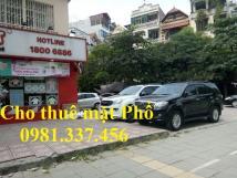 Cho thuê nhà mặt phố Nguyễn Thái Học 68m2, MT: 10m, 62 tr/th Quý mặt phố 0981337456