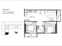 Phân tích thiết kế căn hộ 55,53m2 chung cư An Bình Plaza *!