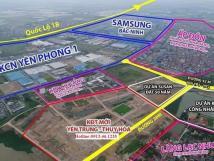 Đất nền KĐT ngay Samsung Bắc Ninh, chỉ từ 11 triệu/m2 sổ đỏ lâu dài.
